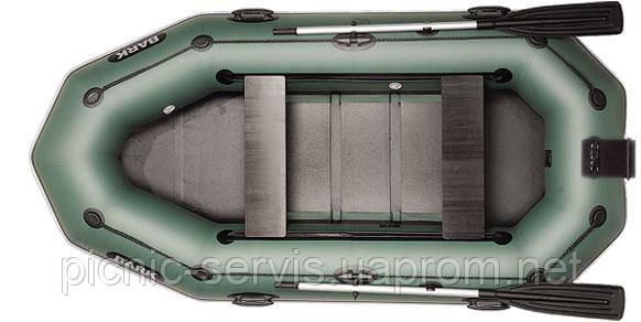В-280NРD BARK надувная лодка ПВХ гребная трехместная скользящие сиденья + навесной транец + привальный брус