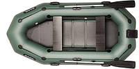 В-280NРD BARK надувная лодка ПВХ гребная трехместная скользящие сиденья + навесной транец + привальный брус, фото 1