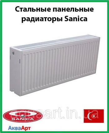 Sanica стальной радиатор 33k 300*1200, фото 2