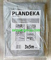 """Тент  """"Plandeka"""" 100g\m2, 3х5м. Полипропиленовый, тарпаулиновый ламинированный с кольцами.Полог."""