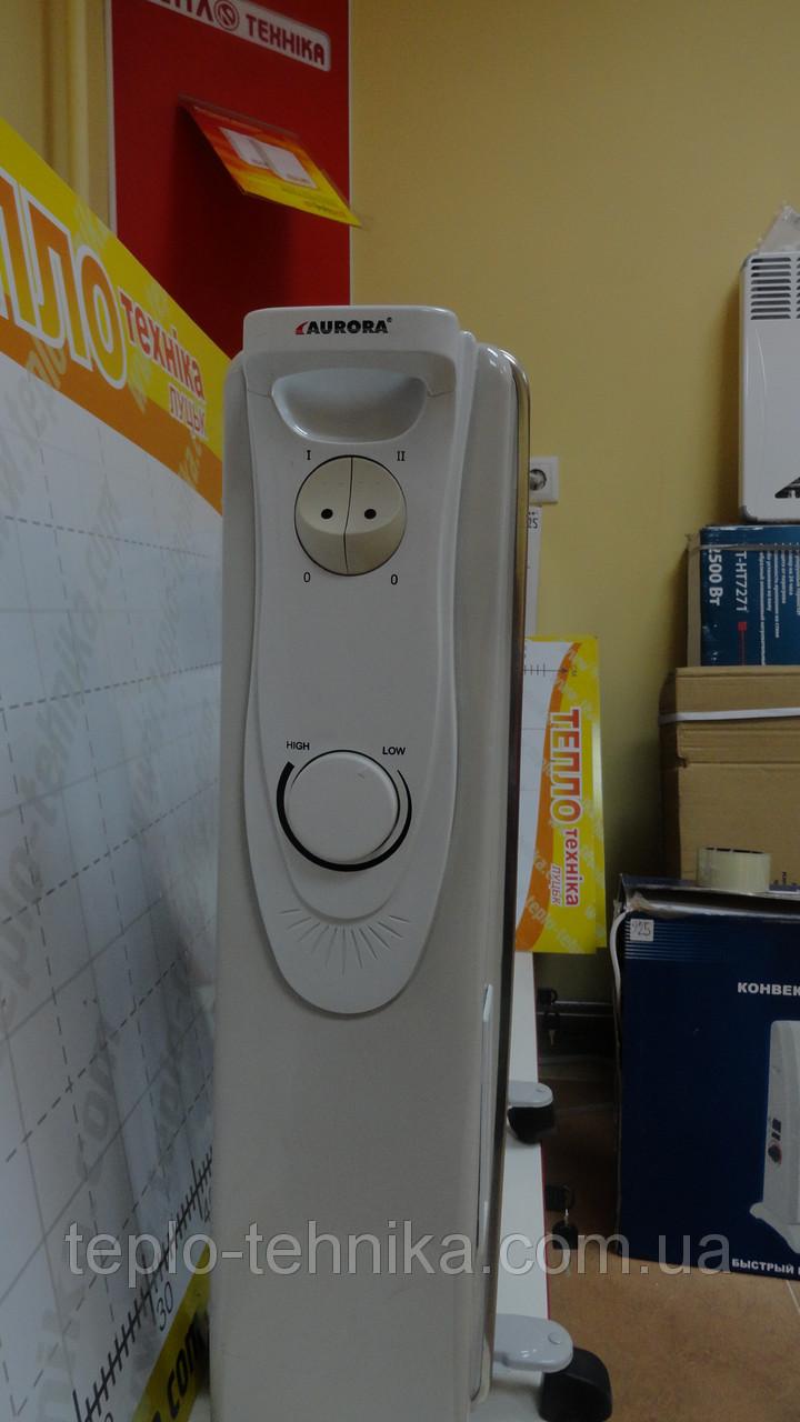 Масляный радиатор Aurora 2 кВт (11 секций). Распродажа обогревательной техники !!