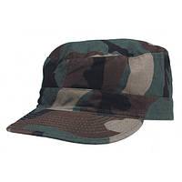 Армейская кепка US BDU Rip Stop (S) woodland-stonewashed MFH цвета камуфляж