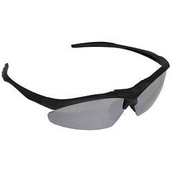 Армейские спортивные очки с пластиковыми дужками  MFH черного цвета
