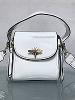 Сумка Gucci застежка пчела белая лаковая , фото 1