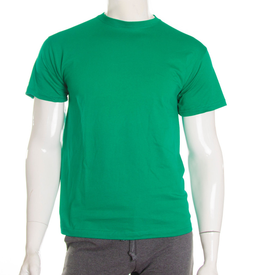 Футболка мужская зеленая