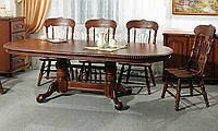 Стол обеденный HNDT-4296 SWC раскладной_орех, фото 1