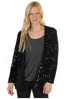 Пиджак черный без застежки с паетками  Ella blazer от Minimum в размере (S)
