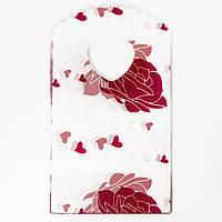 Пластиковый пакет c Рисунком Розы, Цвет: Малиновый, Размер: Длина 14.5см, Ширина 8.5см, (УТ100012016)