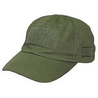 Кепка тактическая с липучками тёмно-зелёная MFH зеленого цвета
