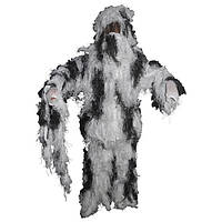 Костюм маскировочный XL/XXL Ghillie Suit  MFH черно белого цвета