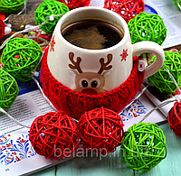 """Новогодняя гирлянда из ротанга """"Рождество"""". Диаметр шарика - 5 см. , фото 1"""