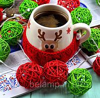 """Новорічна гірлянда з ротангу """"Різдво"""". Діаметр кульки - 5 див., фото 1"""