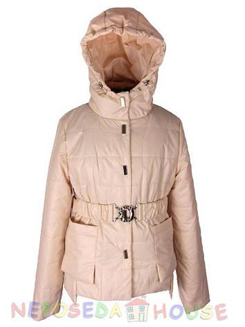 Стильная куртка-парка демисезонная  для девочки подростка 140-164 рост  Moonbox светлая пудра, фото 2