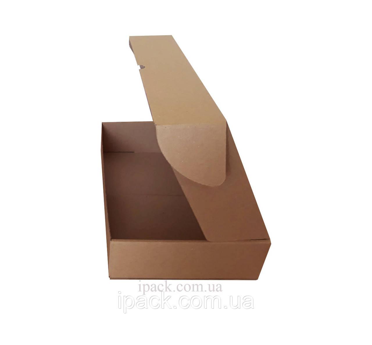 Коробка картонная самосборная, 675*200*100, мм, бурая, крафт, гофрокартон