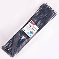 3,6 x 370 Черные Хомуты пластиковые CarLife