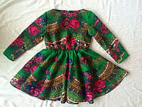Платье макси детское из платка