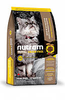 Nutram CAT GRAIN-FREE Turkey & Chiken 20 кг - беззерновой холистик корм для кошек (индейка/курица)