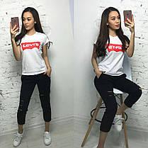 Крутая и модная футболка LEVIS, 8 цветов,  размеры S M L XL Турция, фото 2