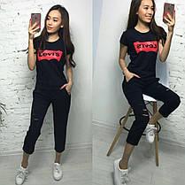 Крутая и модная футболка LEVIS, 8 цветов,  размеры S M L XL Турция, фото 3