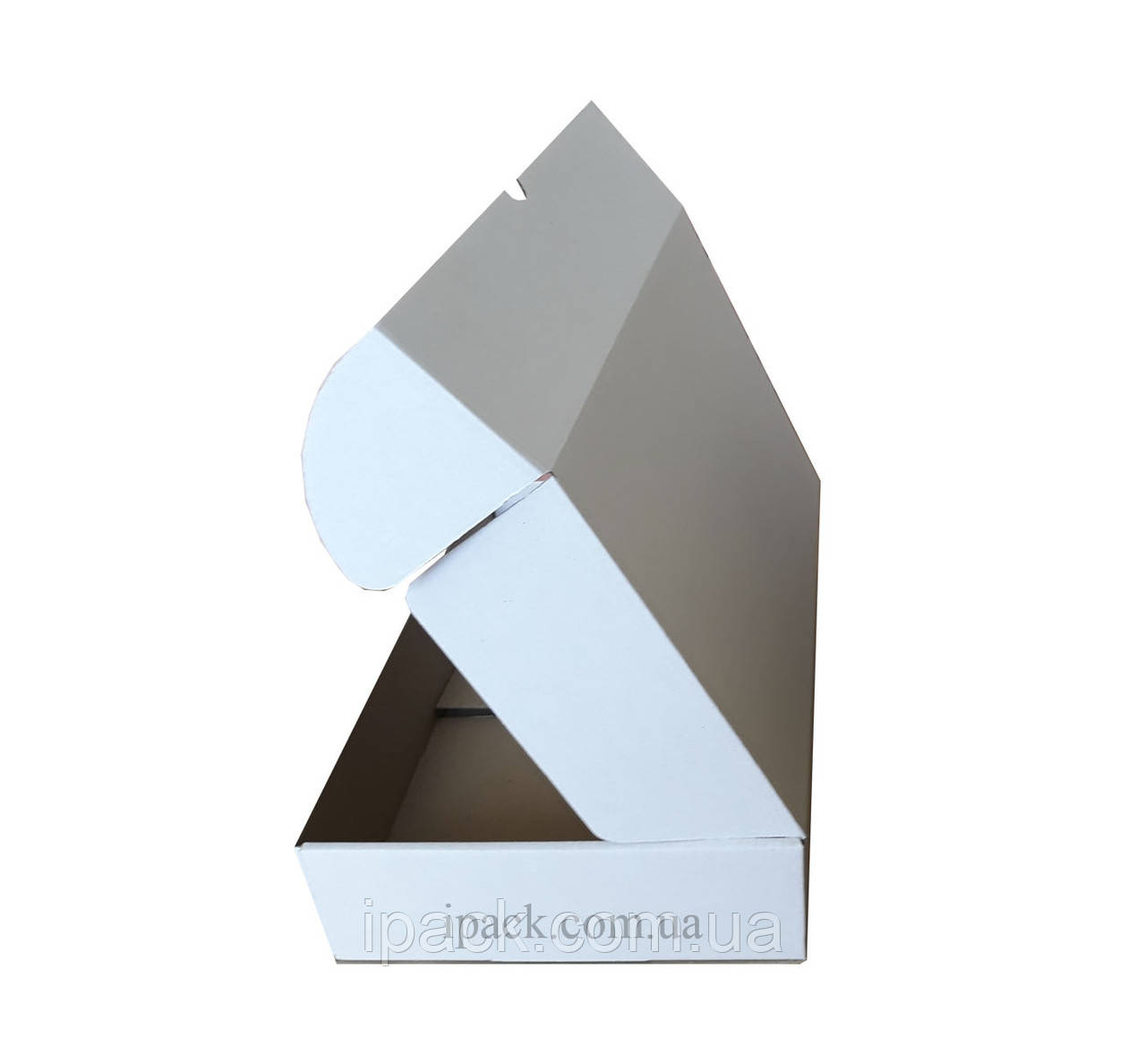 Коробка картонная самосборная, 470*450*33, мм, белая, микрогофрокартон
