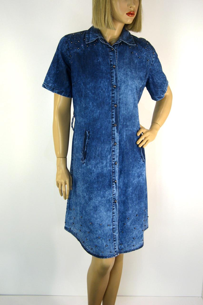 Платье джинсовое с коротким рукавом Sinsere