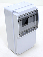Щиток комбинированный пластиковый АБС, не содержащий галогены IP54, прямая, 130х240х100мм 6М