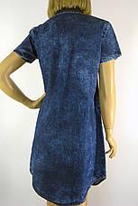 Джинсове плаття з коротким рукавом Ezra 0191, фото 3