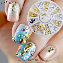 Декор для дизайну нігтів - паєтки, бульйон, фігурки, камифубики