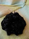 Резинка шиньон из волос черный  0215V-1, фото 7