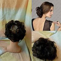 Резинка шиньон из волос темно-шоколадный 0215V-4
