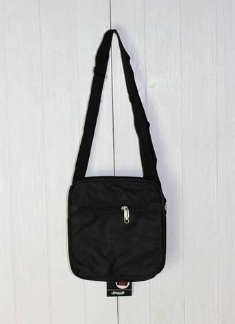 Удобная черная сумка мужская через плечо трех размеров, фото 2