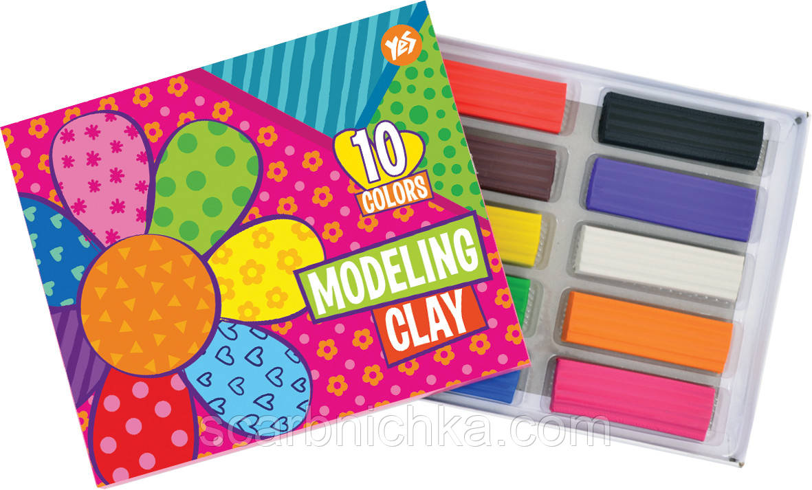 """Пластилин """"Yes"""" 10 цветов 540426 """"Happy colors"""""""