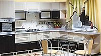 Кухня Марта МДФ фасад Венге-светлый/Венге-тёмный, корпус Венге-светлый.