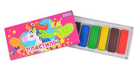 """Пластилин """"1 Вересня"""" 7 цветов 540415 """"Magic unicorn"""", фото 2"""