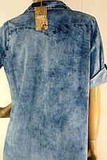 Джинсовое платье рубашка большого размера Jefri, фото 2