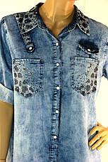 Джинсовое платье рубашка большого размера Jefri, фото 3