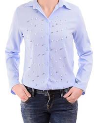 Женская рубашка с  россыпью бус