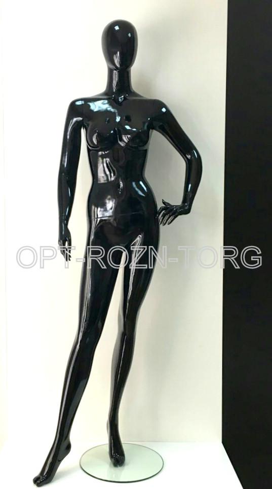 Манекен женский глянцевый черный