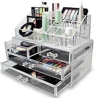Бокс для хранения косметики Настольный ящик органайзер шкатулка Storage Box  Акция !!!