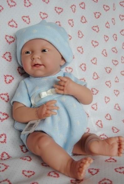 Berenguer, Кукла мальчик в голубом комбинезоне 38 см
