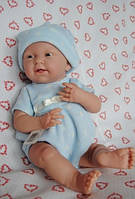 Berenguer, Кукла мальчик в голубом комбинезоне 38 см, фото 1