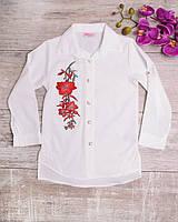 Белая рубашка с цветочным принтом