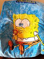 Детский флисовый плед Губка Боб