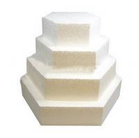 Фальш-ярус ¤ 30см шестиугольник (подложка из пенопласта) для торта