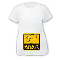 """Футболки для будущих мам """"Baby on road"""""""