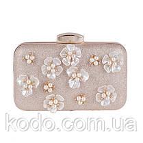 Вечерняя сумка Bluebell Flower Golden, фото 3