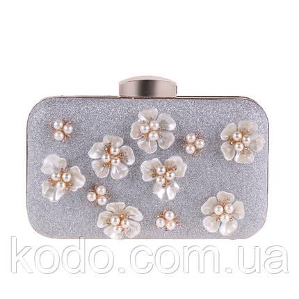 Вечерняя сумка Bluebell Flower Silver, фото 2