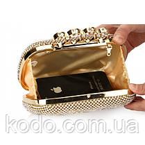 Вечерняя сумка Bluebell Rings Gold, фото 3