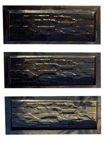 Формы глянцевые для фасадной плитки Мурано пластик АБС