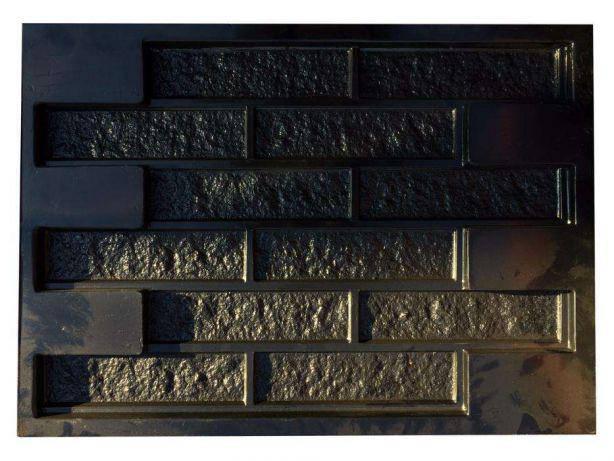 Формы глянцевые для фасадной плитки Кирпич рваный пластик АБС, фото 2